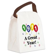 1911birthdayballoons.png Canvas Lunch Bag
