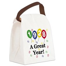 1928birthdayballoons.png Canvas Lunch Bag