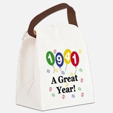 1941birthdayballoon.png Canvas Lunch Bag