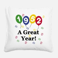 1952birthdayballoon.png Square Canvas Pillow