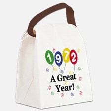 1972birthdayballoon.png Canvas Lunch Bag