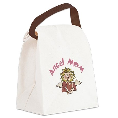 ANGELMOM.png Canvas Lunch Bag