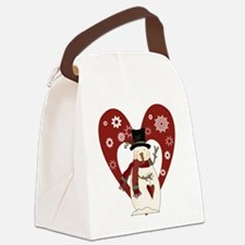 snowmanheartsnow.png Canvas Lunch Bag