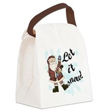 letitsnowsanta.png Canvas Lunch Bag
