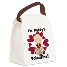 Boy Daddy's Valentine Canvas Lunch Bag