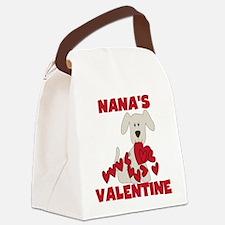 Dog Nana's Valentine Canvas Lunch Bag