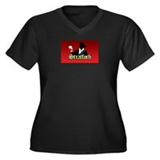 Unique Julius Women's Plus Size V-Neck Dark T-Shirt