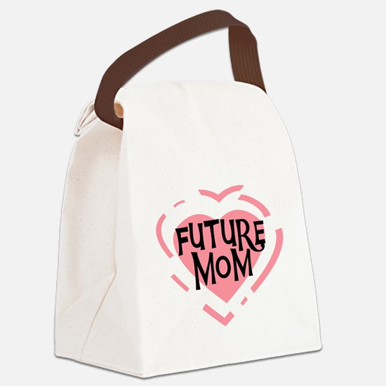 CPHEARTFUTUREMOM.png Canvas Lunch Bag