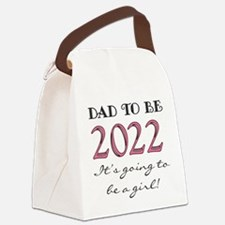 Dad To Be 2017 Girl Canvas Lunch Bag