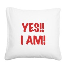 yesiampregnant.png Square Canvas Pillow
