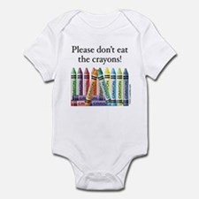 Please don't eat the crayons Infant Creeper