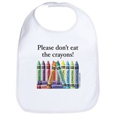 Please don't eat the crayons Bib