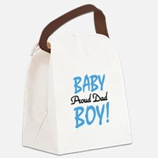 BABYBOYPROUDdad.png Canvas Lunch Bag