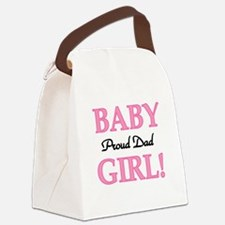 BABYGIRLPRDDAD.png Canvas Lunch Bag