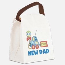 NEWDADCAR.png Canvas Lunch Bag