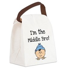 iammiddlebro.png Canvas Lunch Bag