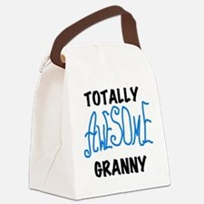 AWESOMEGRANNYBLUEBL.png Canvas Lunch Bag