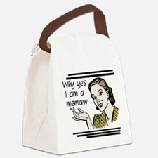 whyyesmemaw.png Canvas Lunch Bag