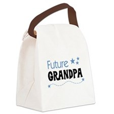 futuregrandpablue.png Canvas Lunch Bag