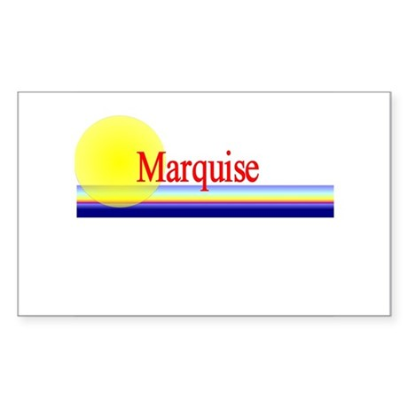 Marquise Rectangle Sticker