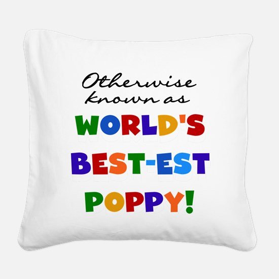 grandcolorspoppyB.png Square Canvas Pillow