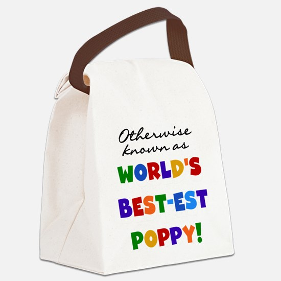 grandcolorspoppyB.png Canvas Lunch Bag
