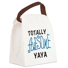 BLUEBLAWESOMEYAYA.png Canvas Lunch Bag