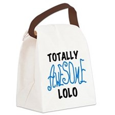 BLUEBLAWESOMELOLO.png Canvas Lunch Bag
