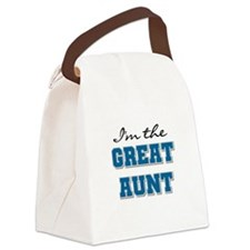 bluegreatAUNT.png Canvas Lunch Bag