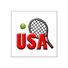 "USA Tennis(3) Square Sticker 3"" x 3"""