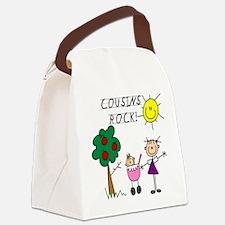 cousinsrock6.png Canvas Lunch Bag