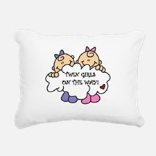 twingirlsontheway.png Rectangular Canvas Pillow