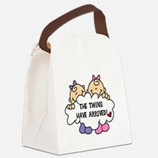 TWINSARRIVED3.png Canvas Lunch Bag