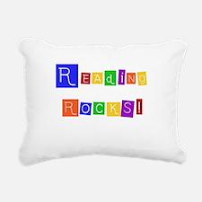 readingrocksshirt.png Rectangular Canvas Pillow