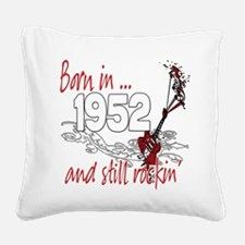 Birthyear 1952 copy.png Square Canvas Pillow