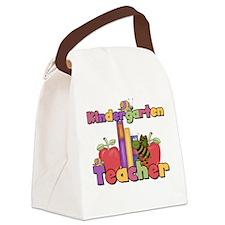 kindergartenappletteacher.png Canvas Lunch Bag
