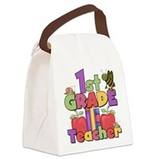 BASICTEACHERAPPLES1st.png Canvas Lunch Bag