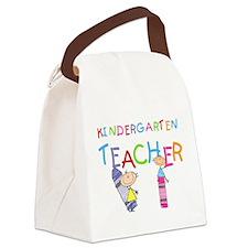 crayonkindergartenteacher.png Canvas Lunch Bag