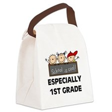 SCHOOLCOOL1ST.png Canvas Lunch Bag