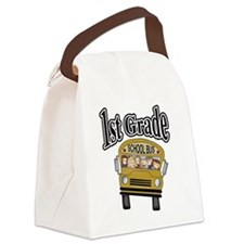 1stgradebustee.png Canvas Lunch Bag