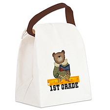 SCHOOLBEAR1ST.png Canvas Lunch Bag