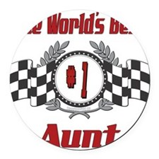 Racing1AUNT.png Round Car Magnet