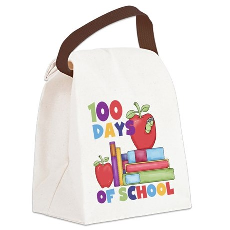 Books 100 Days Canvas Lunch Bag