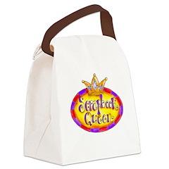 Scrapbook Queen Crown Canvas Lunch Bag