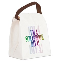 DIVASCRAPPERTEE.png Canvas Lunch Bag