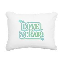 greenlovetoscrap.png Rectangular Canvas Pillow