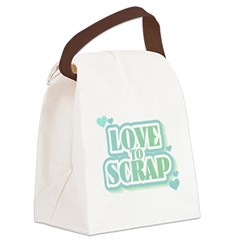 greenlovetoscrap.png Canvas Lunch Bag