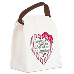 Angel Scrapbooker Canvas Lunch Bag