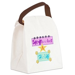SCRAPHOLICCENTERED.png Canvas Lunch Bag