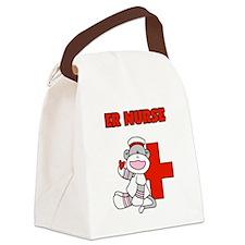 ernursesockmonkey.png Canvas Lunch Bag